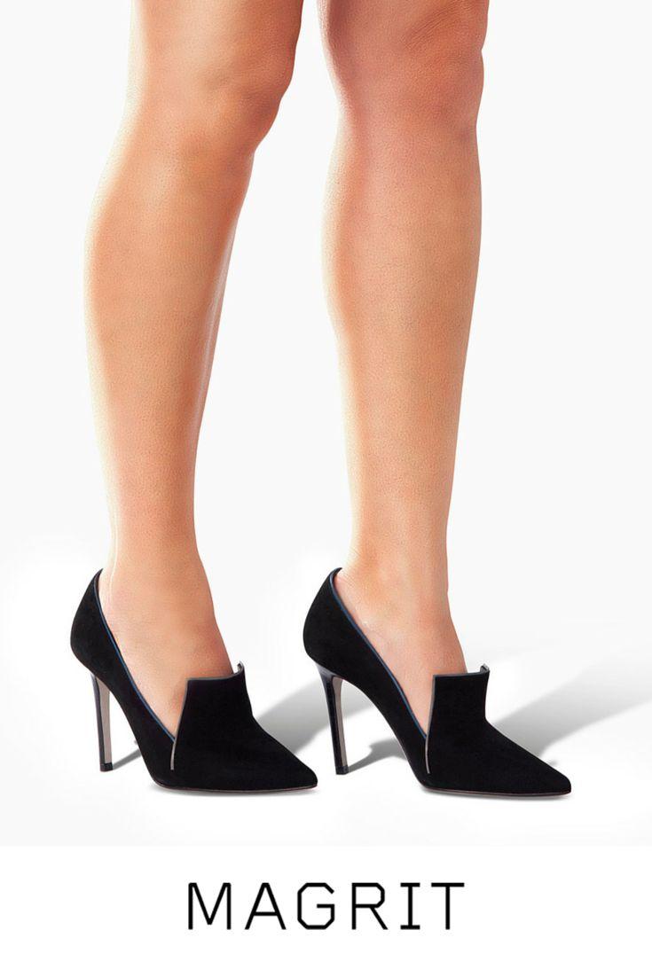 AMARIS: Salón de punta fina y solapa en el empeine. Líneas que resaltan la sensualidad del pie. http://bitly.com/magrit-en-amaris  -- #Magrit #MadeinSpain AMARIS: Living fine point flap on the instep. Lines that emphasize the sensuality of the foot. http://bitly.com/magrit-amaris