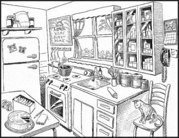Kitchen Clipart – Clipartaz – Free Clipart Collection within Best Kitchen Clipart Black And White