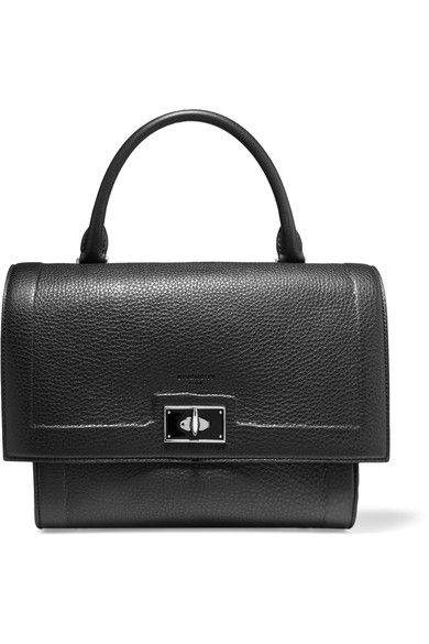 Givenchy - Small Shark Bag In Black Textured-leather - one size