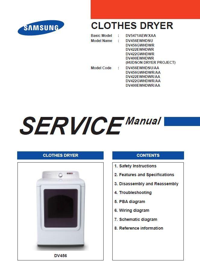 samsung dv456ewhdsu dv456gwhdwr dv422ewhdwr dv422gwhdwr dv400ewhdw  dryer wiring diagram samsung service manual #10