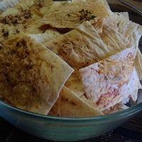 Вкусные чипсы из лаваша с чесноком
