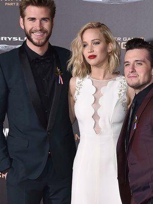 """Liam Hemsworth, Jennifer Lawrence + Josh Hutcherson bei der Premiere von """"Die Tribute von Panem - Mockingjay Teil 2"""" in Los Angeles"""