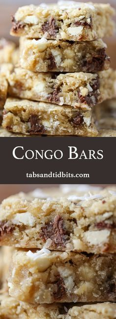 Congo Bars - Blondies with semisweet and white chocolate chips and ...