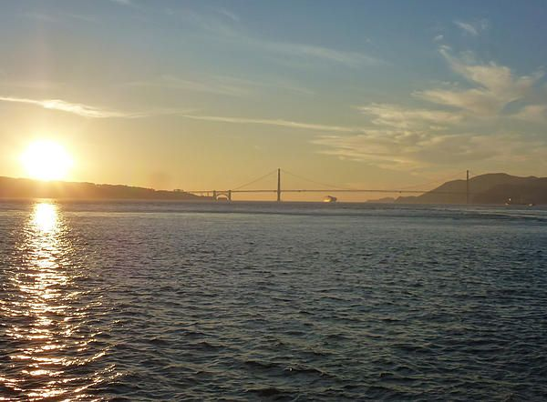 Shot of a sunset on the harbour looking towards the Golden gate Bridge. Want this picture printed on canvas or cards etc? Click on the image :)
