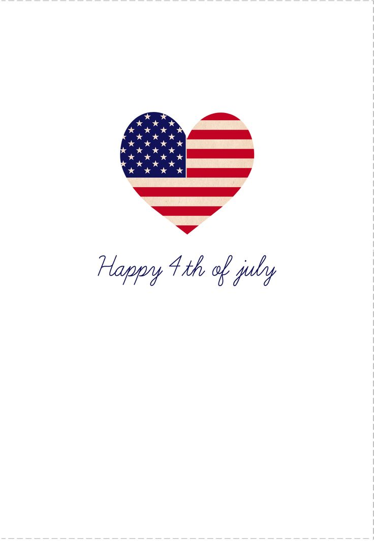 4th of july  card free  printables happy 4th of july