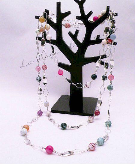 Collana estiva | La magia delle pietre #collana #necklace #collier #perle #perles #pearls #agata #agate #bijoux #beads #handmade #pietradura
