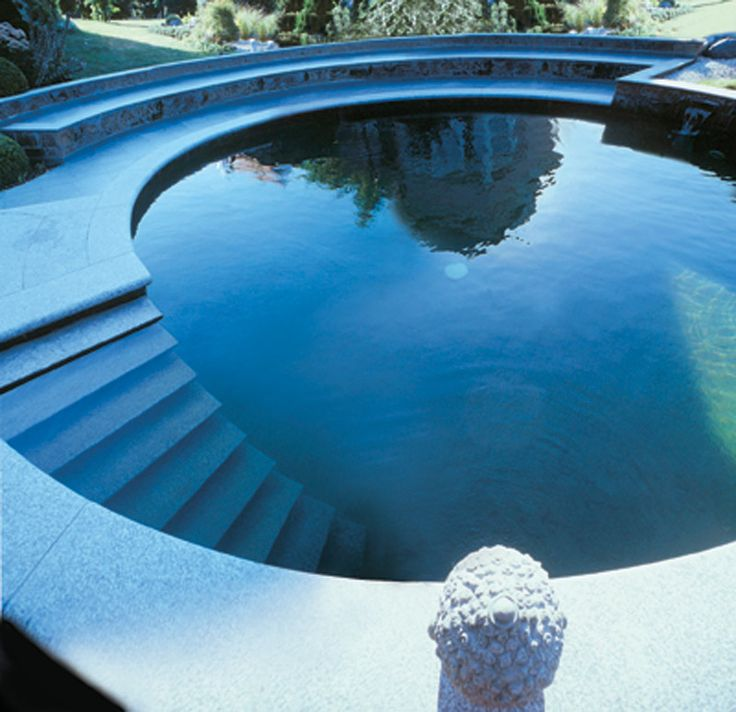 Exotic POols for Luxurious Living (Rich and Famous outdoor life! Miami Pools Nice Pools big pools circular pool design beautiful pool