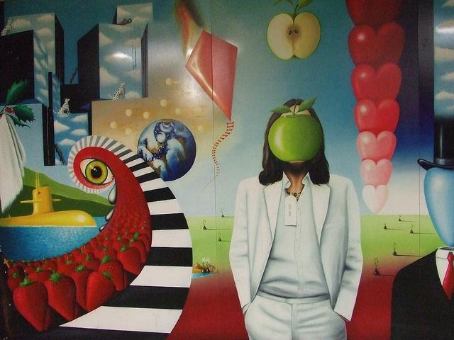 The others began to wonder if John was taking his role at Apple a little too seriously.  http://johnlennononline.blogpsot.com  http://winstonlennon.com    John Lennon - Apple Head, via Flickr.