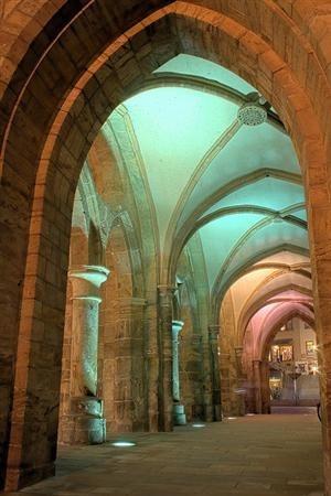 Archways in soft light.