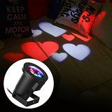 E-foxer LED Landscape Moving Romantic love Spotlight Waterproof Projector For Outdoor/Indoor Spotlights Stage... christmas deals week