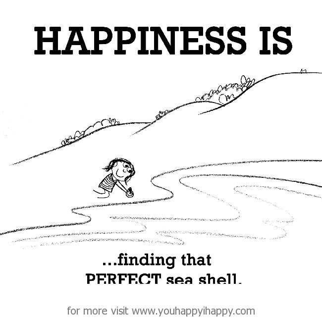 Happiness is, finding a perfect sea shell. - You Happy, I Happy