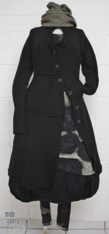 "www.modegalerie-bongardt.de - rundholz mode, rundholz black label, rundholz dip Rundholz black label Winter 2016 asym. Longjacke/Gehrock ""print"" virgin-wool...3 verschiedene Farben ! 3897223-W16"