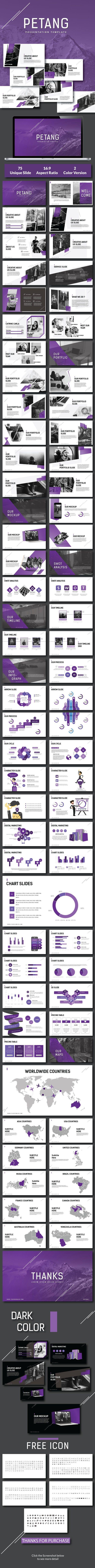 Petang - Creative PowerPoint Presentation Template - 75+ Well Designed Slides