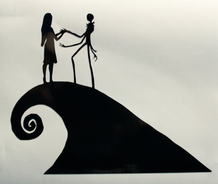 The Nightmare Before Christmas Jack and Sally Decal by AllonsyCreations on Etsy