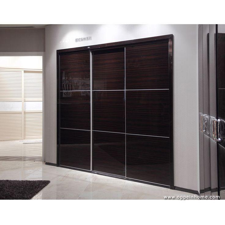 Bedroom furniture item name modern built in brown sliding doors wardrobe closet wardrobe