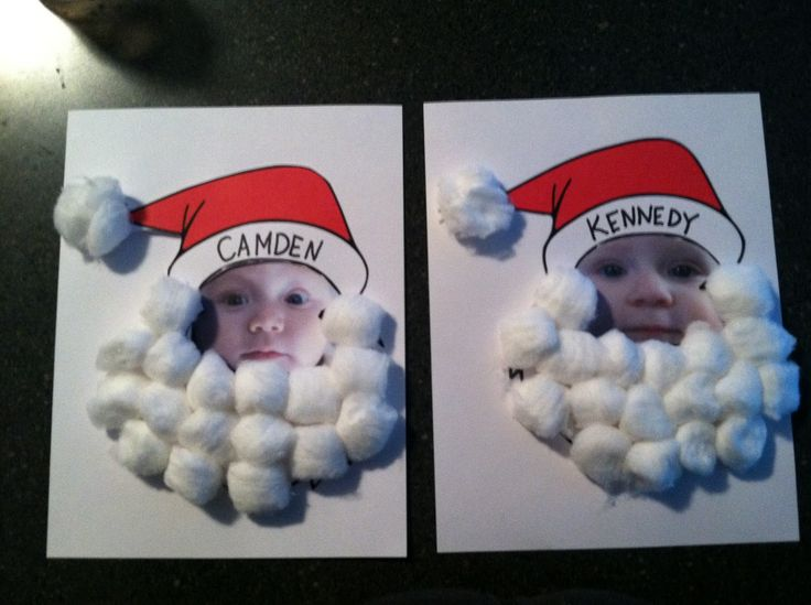 Cute personalised santa craft with cotton balls