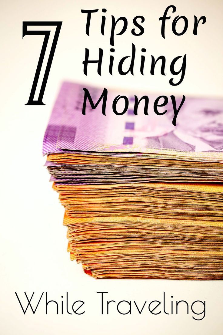 7 Tips for Hiding Money Pinterest