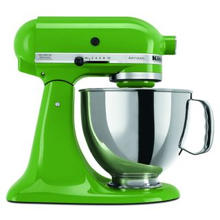 @Overstock - KitchenAid KSM150PSGG Grass Green 5-quart Artisan Tilt-Head Stand Mixer - The KitchenAid Artisan stand mixer has a 325-watt motor and a 5-quart stainless steel bowl to conquer any cooking challenge. This mixer's pouring shield and tilt-back mixer head design provides easy access and prevents accidental spills.    http://www.overstock.com/Home-Garden/KitchenAid-KSM150PSGG-Grass-Green-5-quart-Artisan-Tilt-Head-Stand-Mixer/7956803/product.html?CID=214117  $335.16