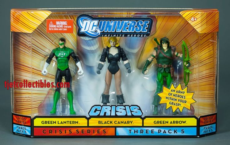DC Universe Crisis Green Lantern Black Canary Green Arrow Action Figure 3-Pack