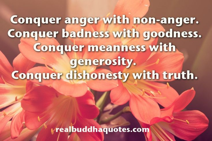"""Conquer anger with non-anger. Conquer badness with goodness. Conquer meanness with generosity. Conquer dishonesty with truth.""  ~The Buddha  http://wld.mn/1RiwwY0"
