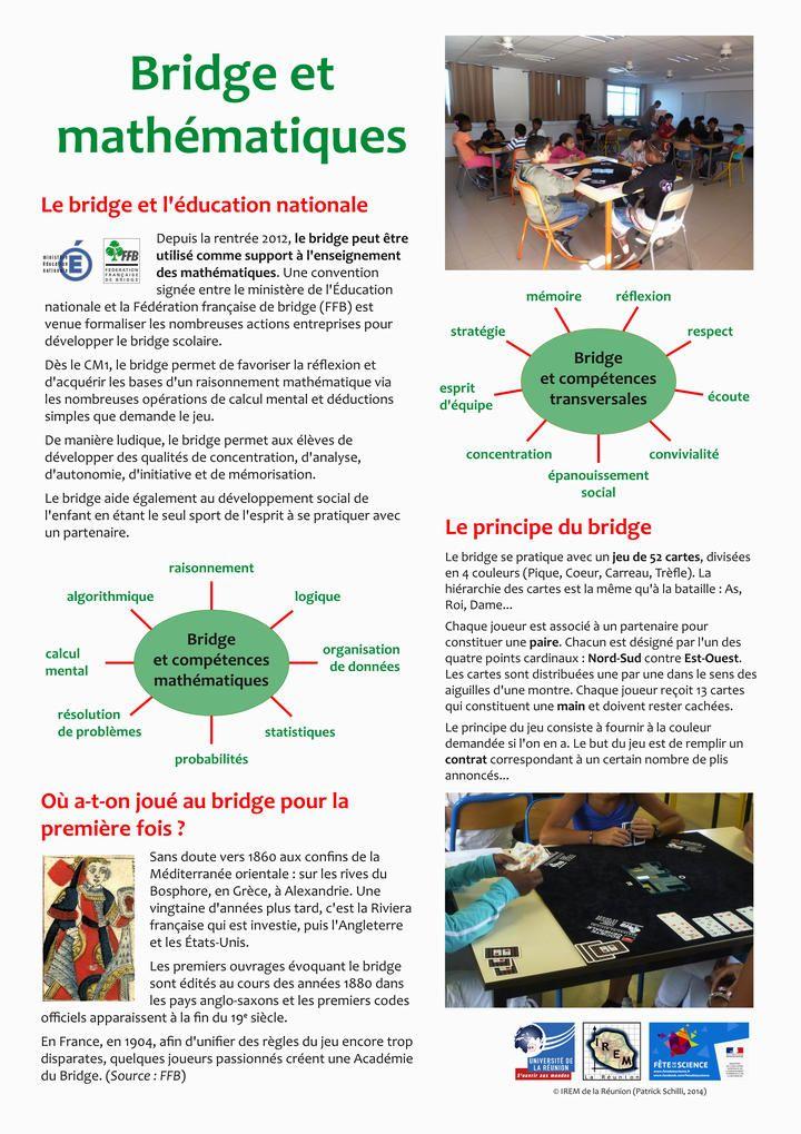 Bridge et mathématiques - IREM de la Réunion