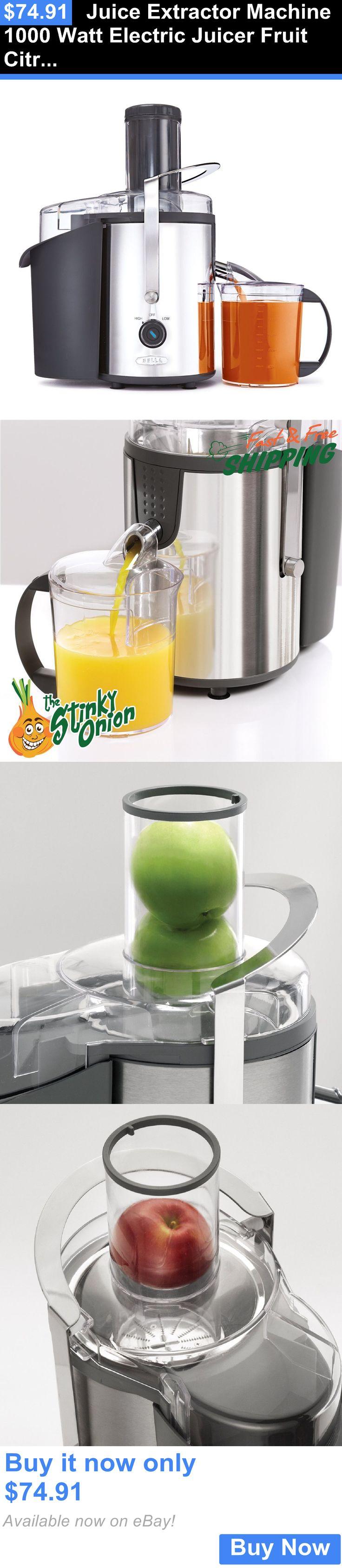 Small Kitchen Appliances: Juice Extractor Machine 1000 Watt Electric Juicer Fruit Citrus Squeezer BUY IT NOW ONLY: $74.91