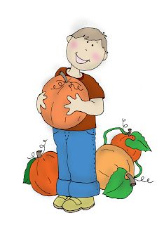 Free Dearie Dolls Digi Stamps: Pumpkin Picking