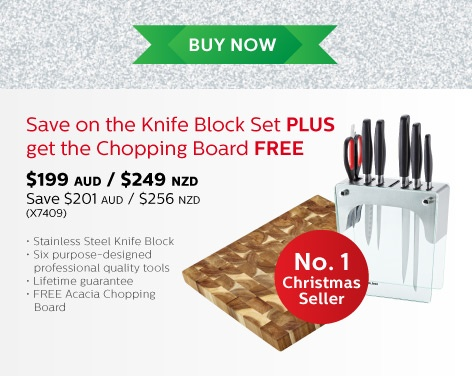 The #ChefsToolbox  Save on the #knifeblock Set PLUS get the #ChoppingBoard FREE  $199 www.dorothywilliams.thechefstoolbox.net