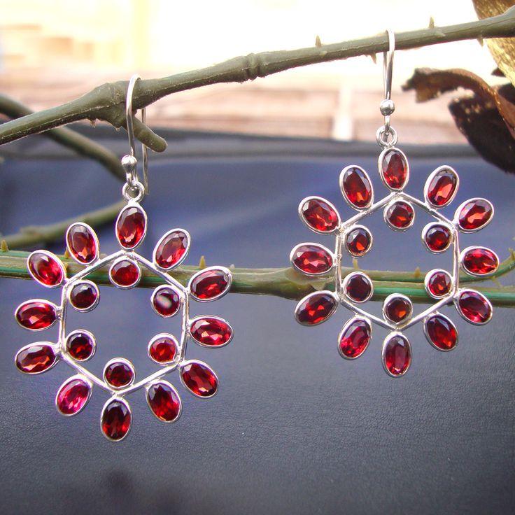 925#Sterling#Silver#India#Garnet#Natural#Gemstone#Pretty#Dangle#Hook#Earrings#Women#Free#Shipping  http://www.ebay.com/itm/925-Sterling-Silver-India-Garnet-Natural-Gemstone-Pretty-Dangle-Earrings-Women-/112518412981?ssPageName=STRK:MESE:IT