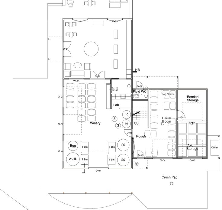 66 best images about winery and cidery buildings on for Winery floor plans by architects