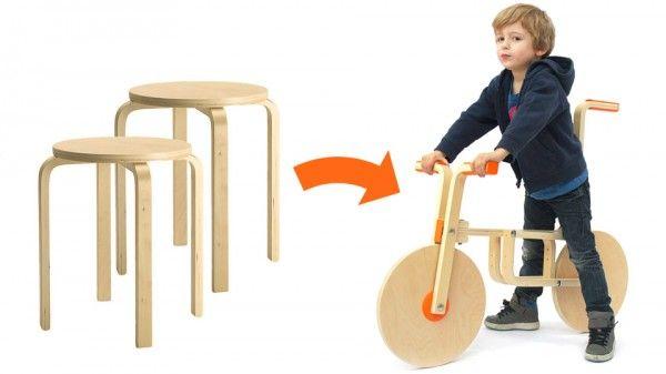Bicicleta sin pedales con dos taburetes FROSTA