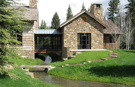 Classic stone with modern hall