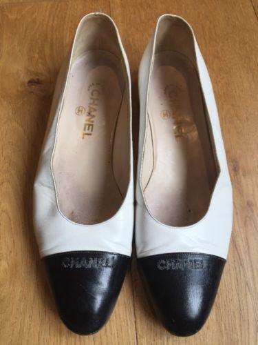 Classique-noir-et-blanc-deux-tons-en-cuir-chanel-chaussures
