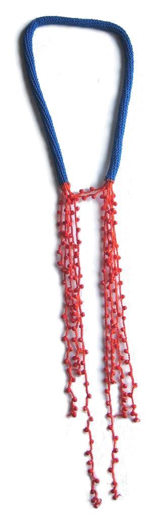 crochet necklace by TERESA DEGLERI