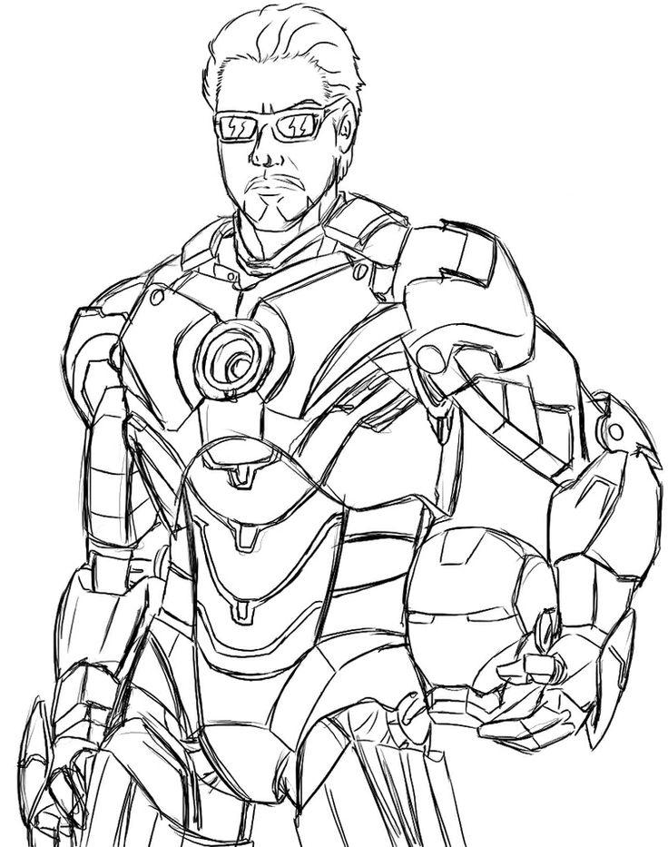 Iron Man Unmasked Coloring Page