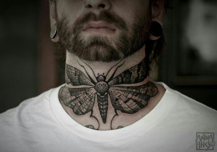 Moth on neck