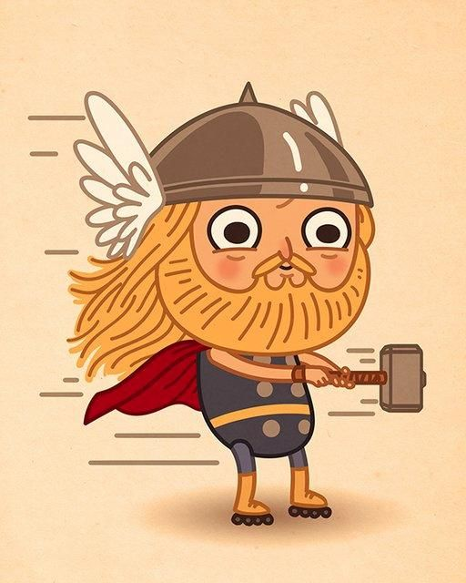 THOR! Artist Mike Mitchell Makes Marvel Characters Incredibly Cute
