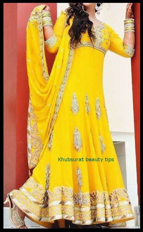 Lehenga For Mehndi Ceremony : Khubsurat beauty tips beautiful bridal ubtan mehndi