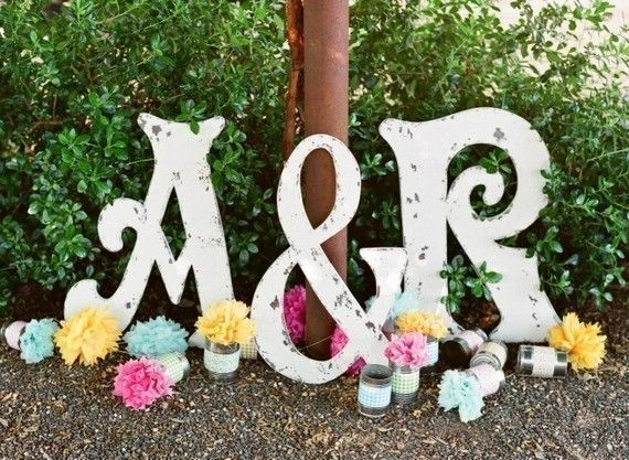 These HUGE letters could be used for so many cute things in a wedding.