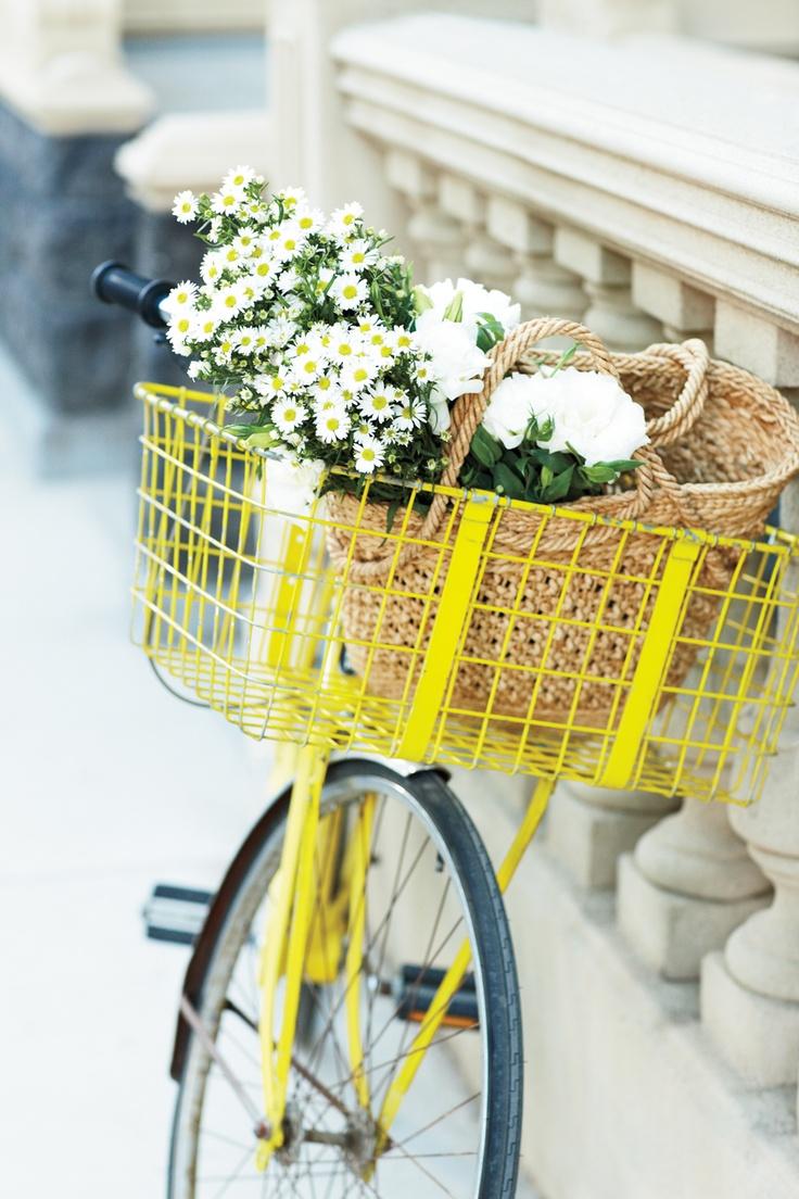 a tisket, a tasket… love this yellow bike