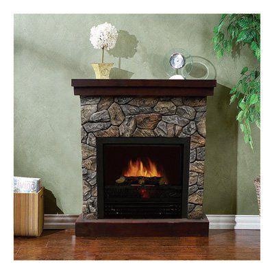Stonegate Polystone Electric Fireplace with Mantel — 5115 BTU, Model# CSN41-26FR