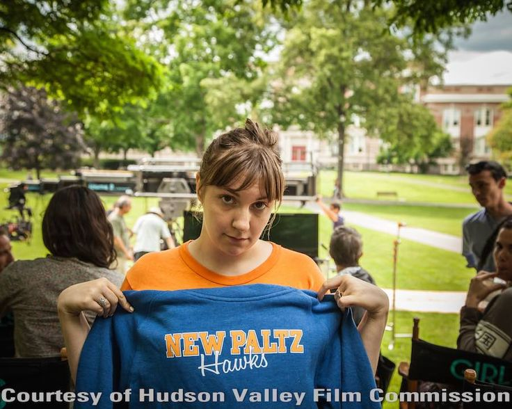 Director Lena Durham from HBO's GIRLS, while filming on location at SUNY New Paltz