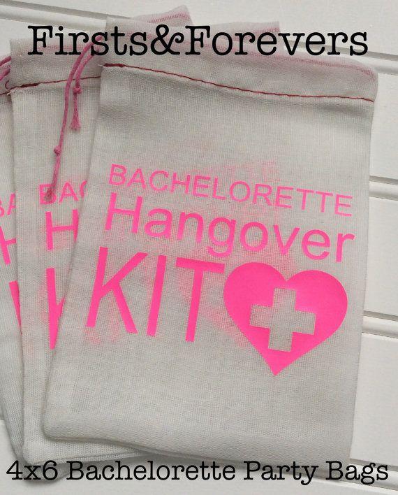 4 x 6 sac Kit Bachelorette gueule de bois par FirstsAndForevers