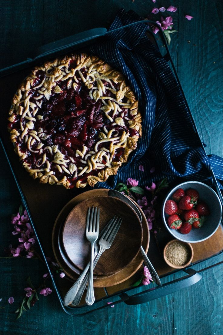 Triple Berry Pie with a Vanilla Bean Crust - A beautiful and delicious pie that will look perfect on your table.