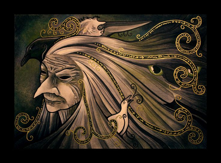 Baba Yaga - archetypal hag, the old witch, the ancient Slavic goddess of death and regeneration.