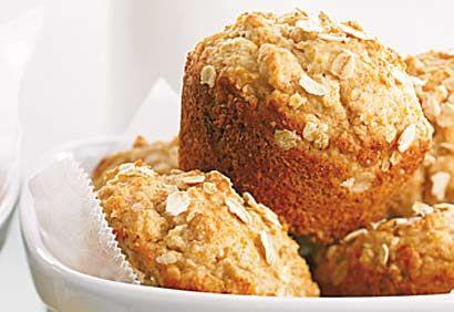 De bons muffins moelleux au parfum d'érable, également sans oeufs ni noix.