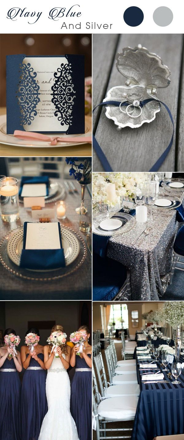17 Best images about Navy Blue Wedding Inspirations on