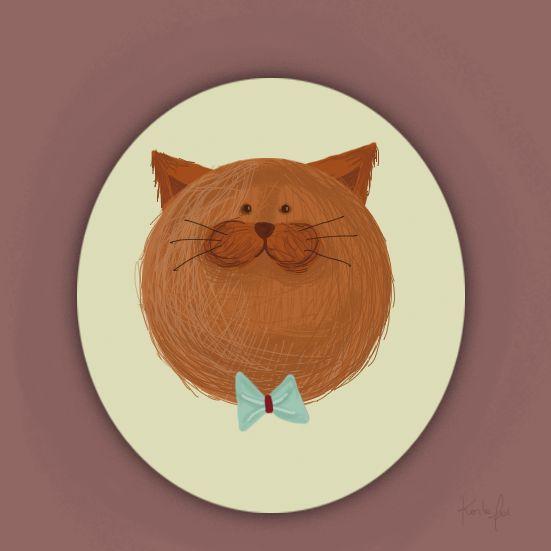 #illustration #ilustracion #cat #gato #karlafai