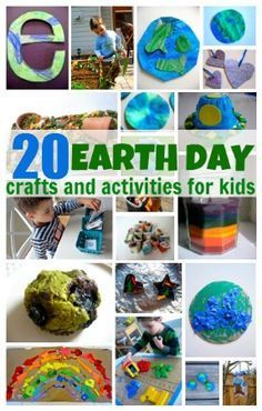 From No Time for Flash Cards - 20 Earth Day Crafts & Activities For Kids - Pinned by @PediaStaff – Please Visit http://ht.ly/63sNt for all our pediatric therapy pins