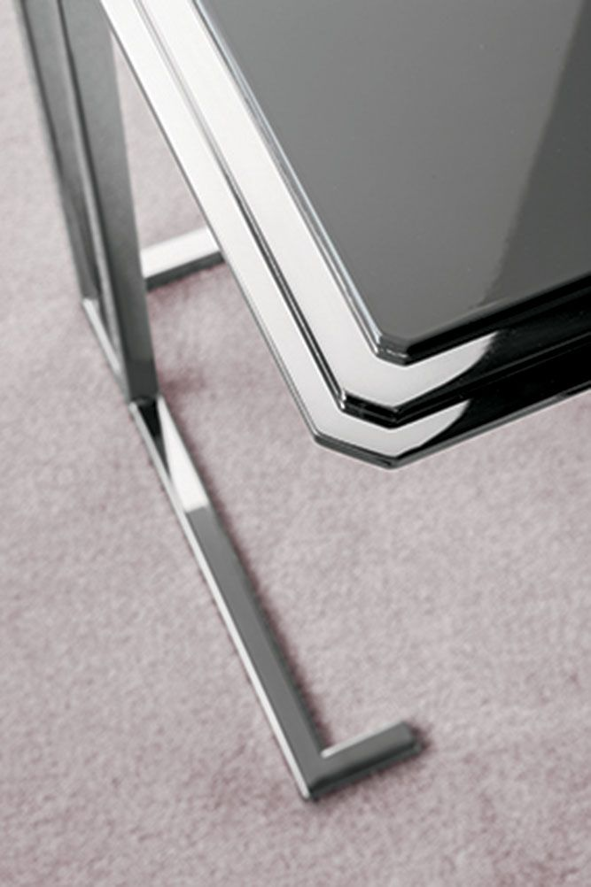 Eddy coffee table, lacquer and chrome, by Oasis Home, Made in Italy.